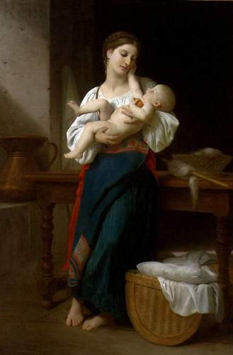 Bouguereau - Premires Caresses