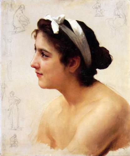 Bouguereau - Study Of A Woman For Offering To Love