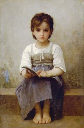 Bouguereau - The Difficult Lesson