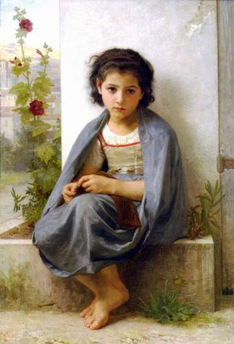 Bouguereau - The Little Knitter