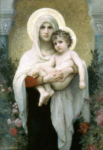 Bouguereau - The Madonna of the Roses