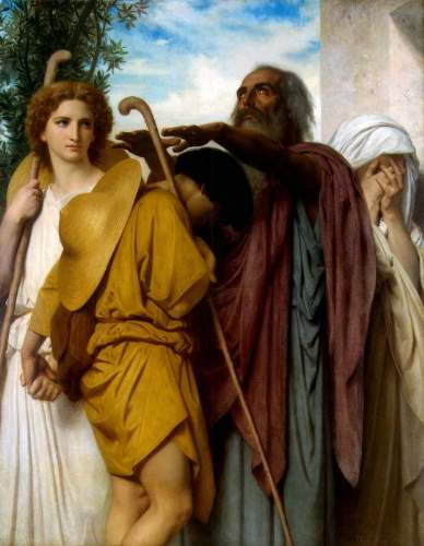 Bouguereau - Tobias Saying Good-Bye to his Father