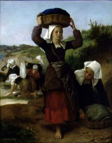Bouguereau - Washerwomen of Fouesnant