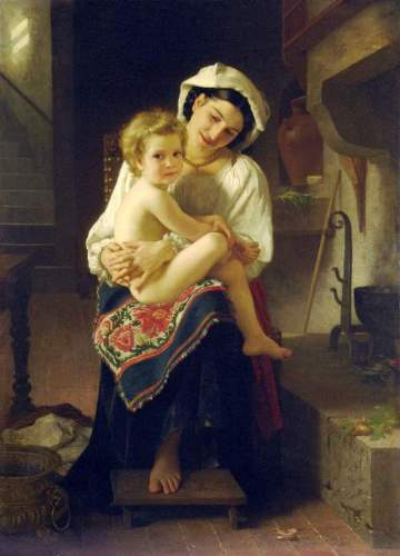 Bouguereau - Young Mother Gazing At Her Child