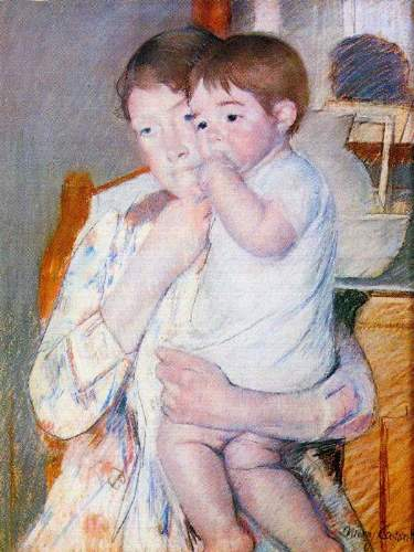 Cassatt - Baby on the arm of the mother