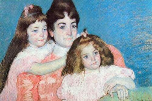 Cassatt - Madame A.F. Aude with her two daughters