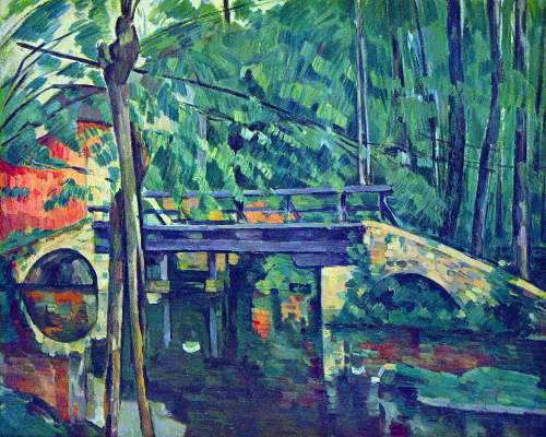 Cezanne - Bridge in the forest