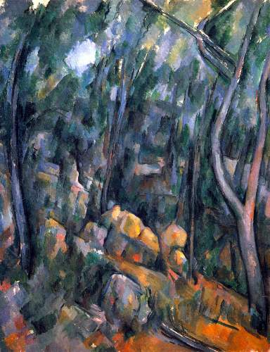Cezanne - Forest caves in the cliffs above the Chateau Noir