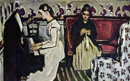 Cezanne - Girl at Piano