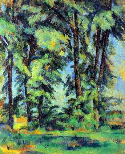 Cezanne - High trees in the Jas de Bouffan