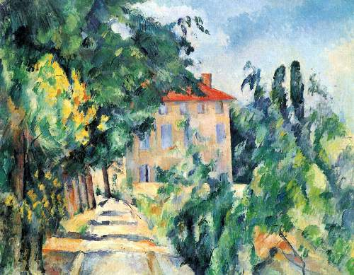 Cezanne - House with Red Roof