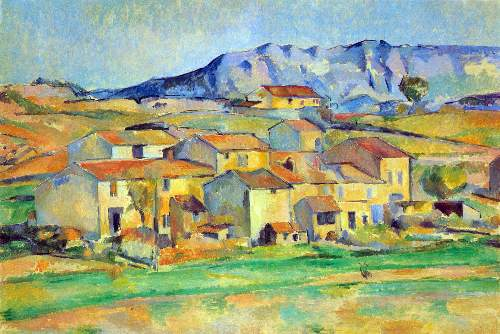 Cezanne - Montaigne Sainte-Victoire, from the environment