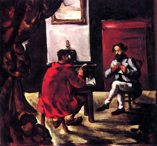 Cezanne - Paul Alexis reads before Zola