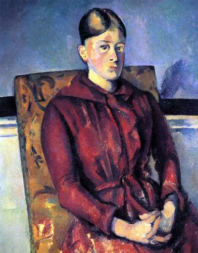 Cezanne - Portrait of Mme Cezanne in the yellow armchair