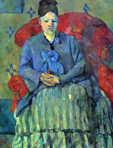 Cezanne - Potrait of Mme Cezanne in Red Armchair