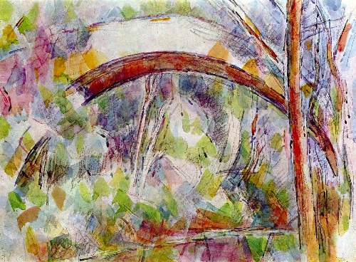 Cezanne - River at the Bridge of Three Sources