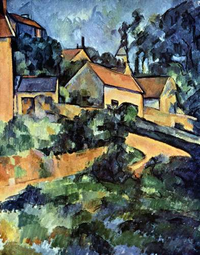 Cezanne - Road curve in Montgeroult