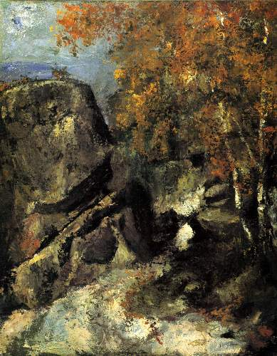 Cezanne - Rocks in Fountanbleu Forest