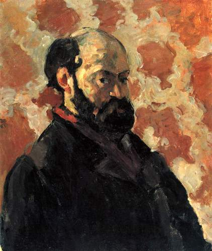 Cezanne - Self-portrait before Rose Background
