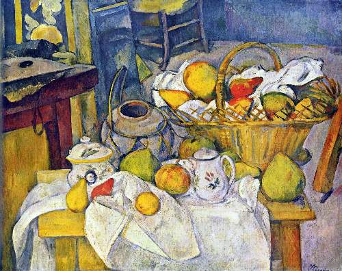 Cezanne - Still Life with Fruit Basket