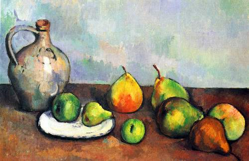 Cezanne - Still Life, Jar and Fruit