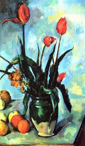 Cezanne - Still Life, vase with Tulips