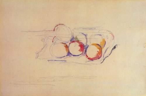 Cezanne - Still life with Apples on a tray