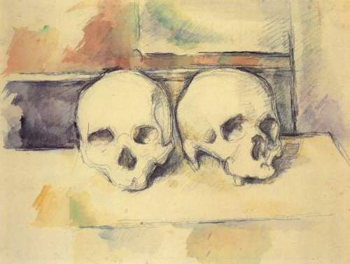 Cezanne - Still life with Two Skulls