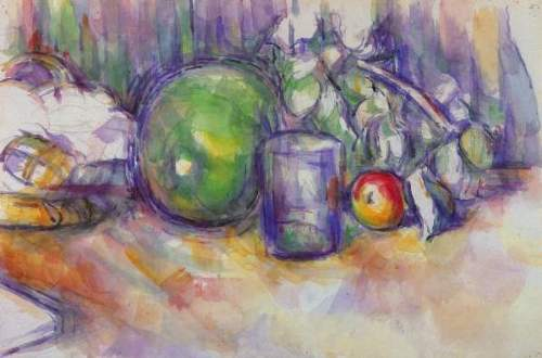 Cezanne - Still life with green melon