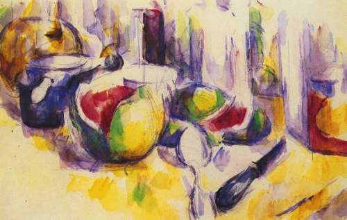 Cezanne - Still life with pomegranate