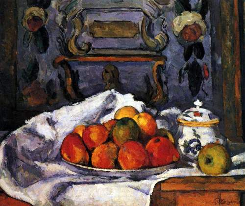 Cezanne - Still life, bowl of apples