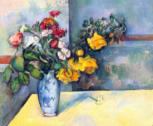 Cezanne - Still lifes, flowers in a vase