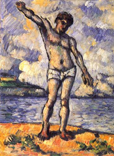 Cezanne - Swimmer with outstretched arms