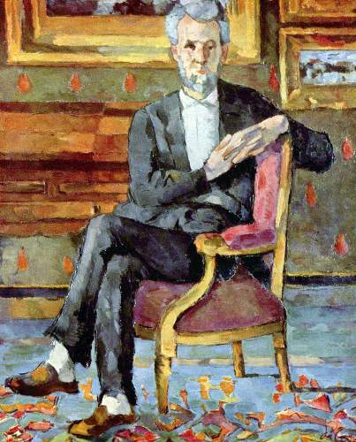 Cezanne - Victor Chocquet seated portrait