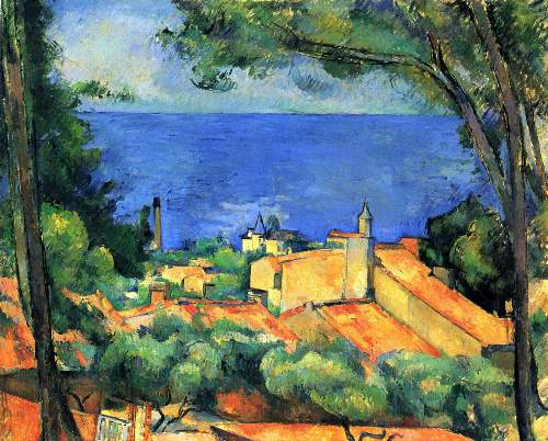 Cezanne - lEstaque with Red Roofs