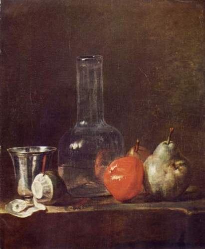 Chardin - Still Life with Glass and fruits