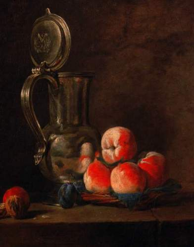 Chardin - Still life with tinjar and peaches