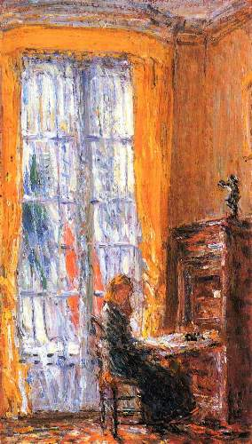 Childe Hassam - At the desk