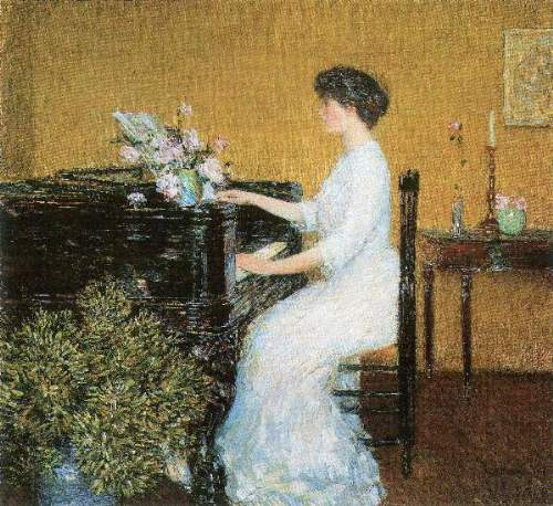 Childe Hassam - At the piano