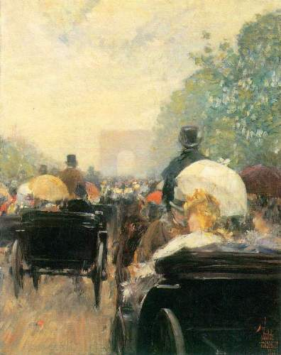 Childe Hassam - Carriage Parade