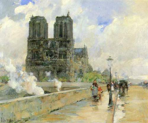 Childe Hassam - Cathedral of Notre Dame, 1888