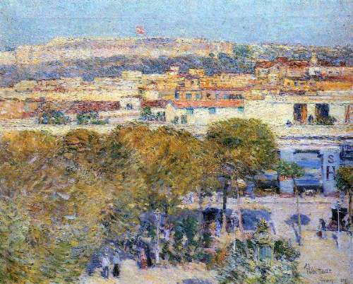 Childe Hassam - Central Place and Fort Cabanas, Havana