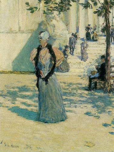 Childe Hassam - Characters in the sunlight