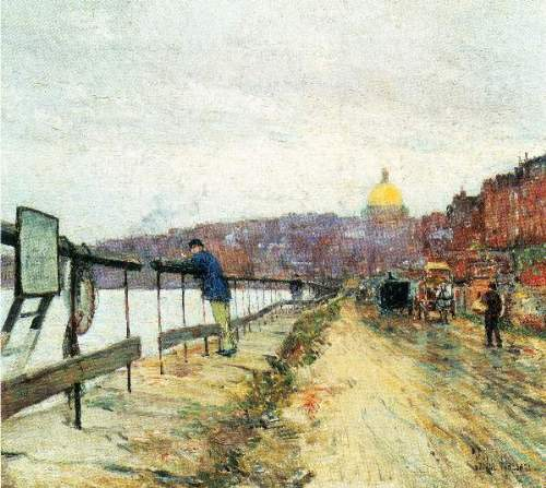Childe Hassam - Charles River und Beacon Hill
