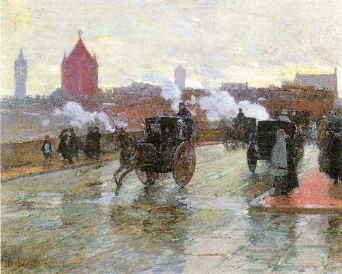 Childe Hassam - Clearing Sunset (Berkeley Street and Columbus Avenue)