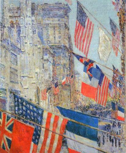 Childe Hassam - Day of allied victory, 1917