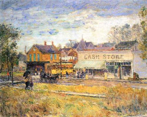 Childe Hassam - End of the tram, Oak Park, Illinois
