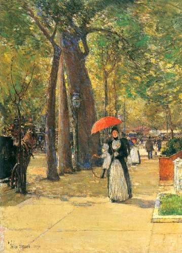 Childe Hassam - Fifth Avenue and Washington Square