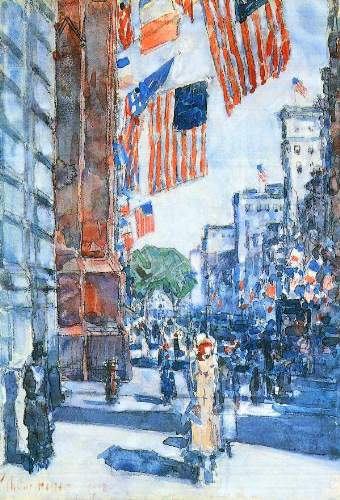 Childe Hassam - Flags, Fifth Avenue