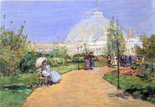 Childe Hassam - House of gardens, World's Columbian Exposition, Chicago